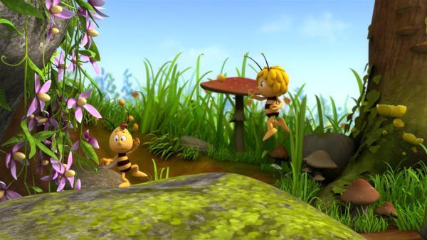 Willi kann mit Pollenbällen jonglieren.   Rechte: ZDF/Studio100 Animation