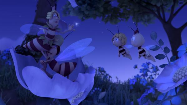 Der königlichen Wache schlottern bei Nacht die Knie. | Rechte: ZDF/Studio100 Animation