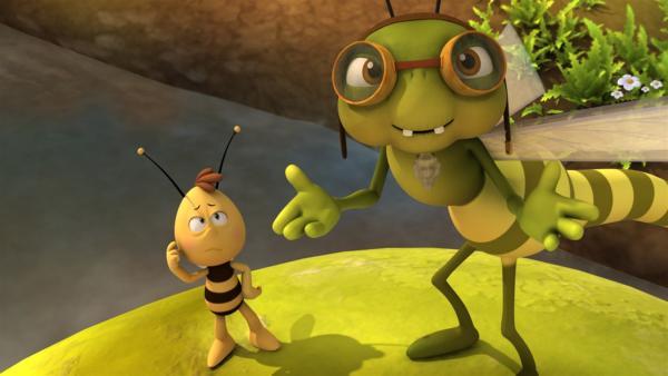 Otto macht aus Willi eine flinke Libelle. | Rechte: ZDF/Studio100 Animation