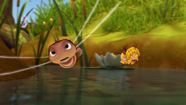 Wer hat beim Libellenrennen die Nase vorne? | Rechte: ZDF/Studio100 Animation