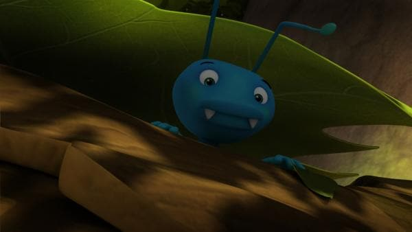 Der Ohrenkneifer Igor versteckt sich vor dem Sonnenlicht. | Rechte: ZDF/Studio100 Animation
