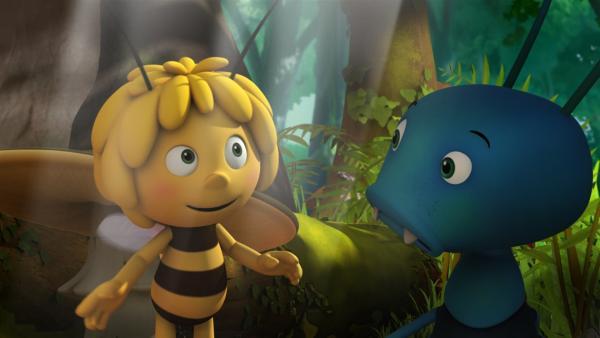 Maja lernt den Ohrenkneifer Igor kennen. | Rechte: ZDF/Studio100 Animation