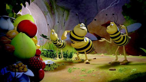 Die Wespen sind in der Vorratskammer. | Rechte: ZDF/2017/Studio 100 Animation