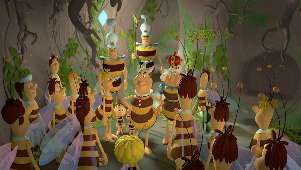 Alle Bienen sind im kühlen Gefängnis, selbst die Königin. | Rechte: ZDF/2017/Studio 100 Animatio