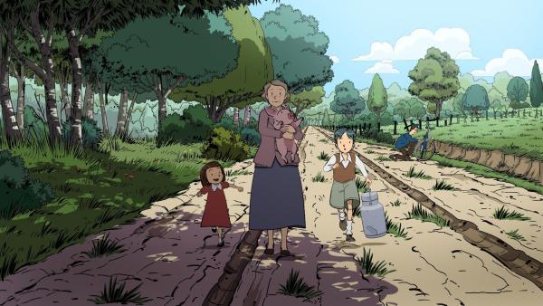 Ernest (re.) und Colette (li.) bleiben bei Kriegsausbruch bei ihren Großeltern auf dem Land. | Rechte: ZDF/2015 Les Armateurs/Blue Spirit Studio