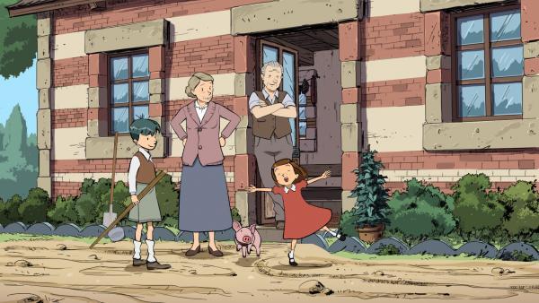 Colette  mit ihren Großeltern | Rechte: © 2015 Les Armateurs/Blue Spirit Studio Honorarfrei - nur für diese Sendung bei Nennung ZDF und versendet