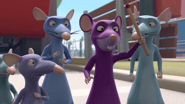 Eine fremde Maus, die auftritt wie ein Superheld, stiftet am Hafen Unruhe.    Rechte: ZDF