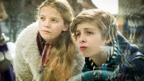 Stella (Zoë Malia Moon) und Till (Otto von Grevenmoor) auf ihrem Beobachtungsposten. | Rechte: NDR/Boris Laewen