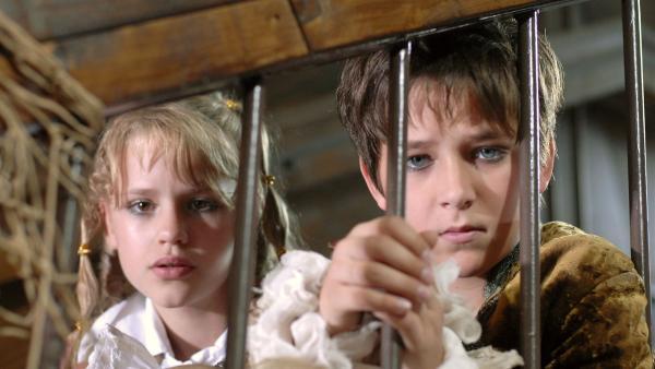 Lilly (Laura Gabriel) und Laurenz (Tim Tiedemann) sind ratlos: Wer steckt hinter der widerlichen Kakerlakenbombe? | Rechte: NDR/Romano Ruhnau
