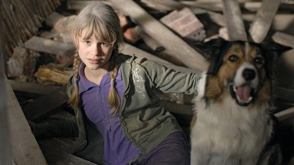 Lilly (Laura Gabriel) und ihr Hund Fee stecken in der Falle. | Rechte: NDR/Romano Ruhnau