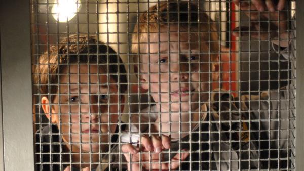 Karol und Laurenz sind auf einem Boot gekidnappt worden. | Rechte: NDR/Romano Ruhnau