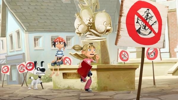 Ohje! Die Bewohner von Schnarch am Deich spielen verrückt - hat sich das gefährliche schwarze Piratenfieber verbreitet? | Rechte: WDR/Cyber Group Studios / France Télévisions / Blue Spirit Studios / Sofitvcine 4