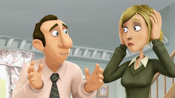 Matildas Eltern machen sich Sorgen um den kranken Jim. | Rechte: WDR/Cyber Group Studios / France Télévisions / Blue Spirit Studios / Sofitvcine 4