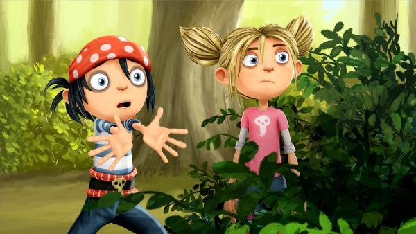 Jim und Matilda müssen etwas unternehmen sonst sind bald alle Schätze weg. | Rechte: WDR/Cyber Group Studios