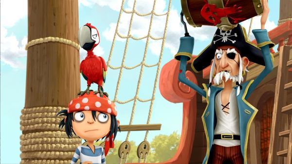 Jims Opa ist Piratenkapitän. | Rechte: WDR/Cyber Group Studios