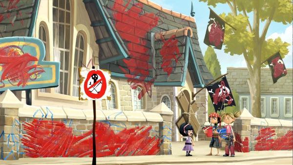 Das Leben in Libertalia, der Stadt ohne Erwachsene, gerät außer Kontrolle. | Rechte: WDR/Cyber Group Studios