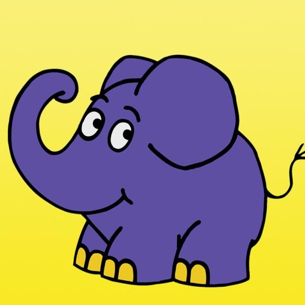 Fröhlich trompetend leitet der kleine, blaue Elefant durch seine Sendung, die sich speziell an Drei- bis Fünfjährige richtet. In dem neuen Unterhaltungsmagazin zum Staunen, Entdecken, Lachen und Mitmachen dreht sich alles um die Welt der Vorschulkinder. | Rechte: WDR/Herby Sachs (M, Bergstein, Fußwinkel)