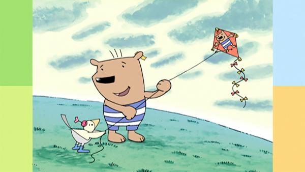 Bär erzählt Vogel, dass er auch gern fliegen können würde. | Rechte: WDR