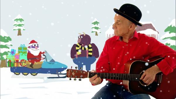 Robert Metcalf singt von vielen Nikolausgeschenken. | Rechte: WDR