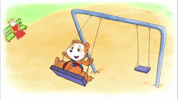 Bobo geht mit seiner Mama auf den Spielplatz. | Rechte: WDR