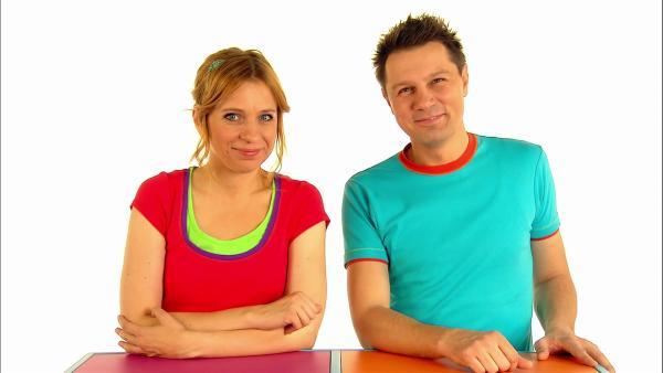 Tanja und André haben wie immer auch ein Rätsel. | Rechte: WDR