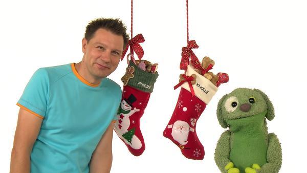 André und Knolle freuen sich schon auf Weihnachten. | Rechte: WDR