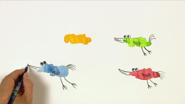 Kann aus einem Farbklecks ein Vogel werden? | Rechte: WDR