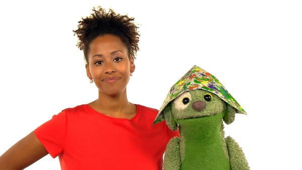 Mary Summer und Knolle singen ein bekanntes Lied, in dem es auch um Farben geht. | Rechte: WDR