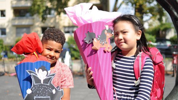 Schulanfänger Vivienne und Nelson | Rechte: WDR