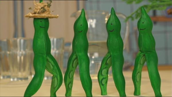 Grüne Bohnen tanzen einen Twist. | Rechte: WDR