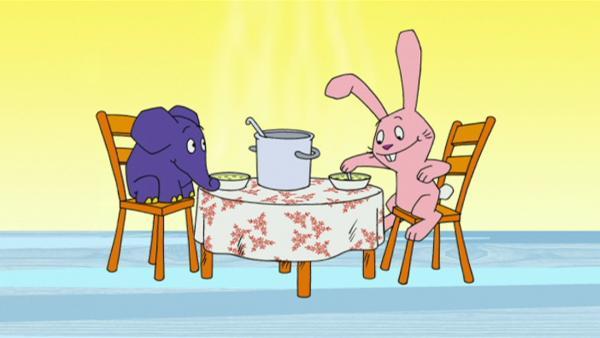 Hase und Elefant sind hungrig. | Rechte: WDR