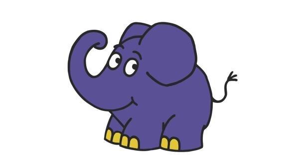 Der kleine blaue Elefant bekommt einen Überraschungsgast. | Rechte: WDR/Trickstudio Lutterbeck