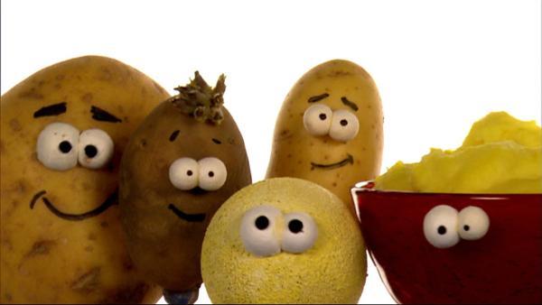 Lustige Kartoffeln singen einen Kartoffel-Song. | Rechte: WDR/Die Sendung mit dem Elefanten