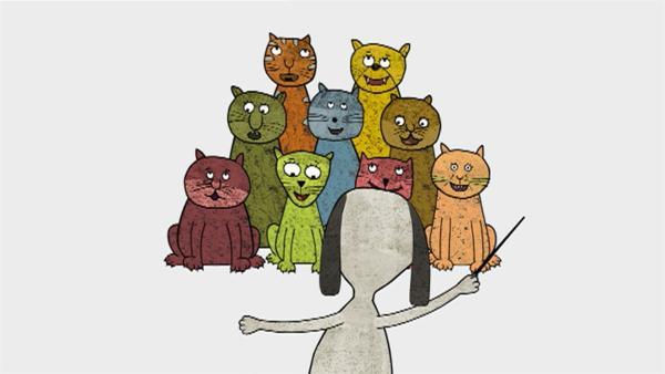 Außerdem singt der Katzenchor wieder ein beliebtes Lied. Welches wird noch nicht verraten. | Rechte: WDR