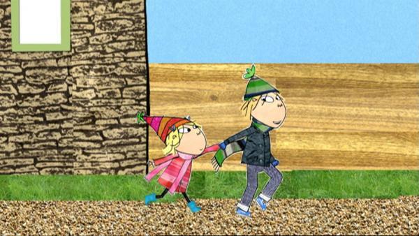 Charlie und Lola zanken sich, wer was besser kann und dürfen deshalb beinahe nicht ins Puppentheater. | Rechte: WDR/BBC/Tiger Aspect Productions