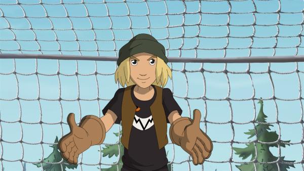 Jojo als Ersatztorwart   Rechte: ZDF/WunderWerk 2012
