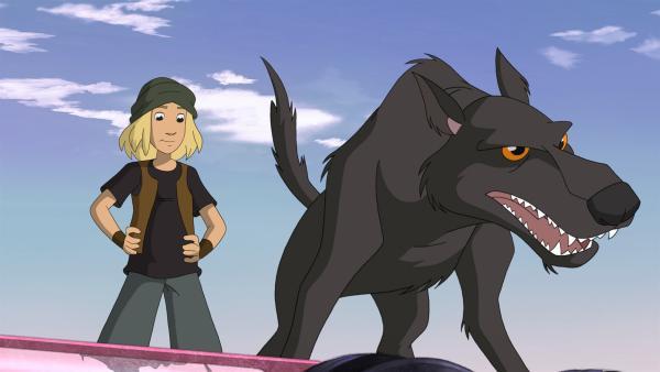 Jojo hat Hilfe geholt: den wilden Hund aus dem Finsterwald | Rechte: ZDF/WunderWerk 2012