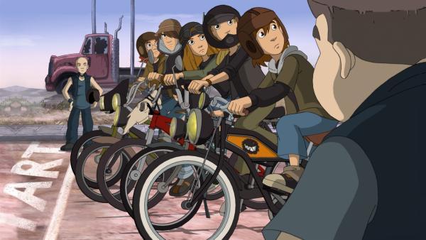 Die Wilden Kerle sind bereit für das Radrennen | Rechte: ZDF/WunderWerk 2012