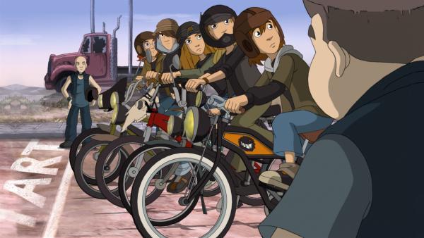 Die Wilden Kerle sind bereit für das Radrennen | Rechte: ZDF/WunderWerk GmbH