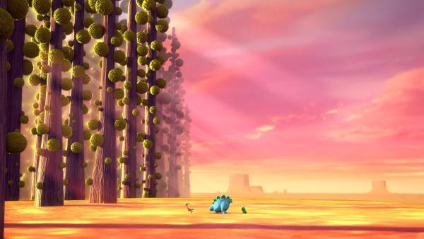 Die Dinotaps laufen der Sonne hinterher, so dass der Tag niemals endet.   Rechte: KiKA/Kindle Entertainment Ltd., Guru Studios Ltd. & Laughing Gravy Media Ltd. 2014