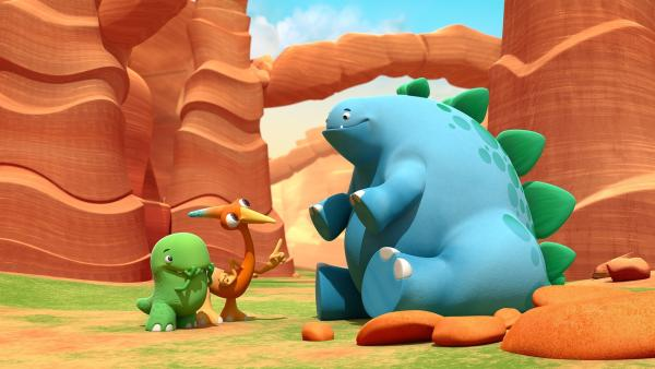 Bob, Gwen und Toni versuchen friedlich und still zu sein. | Rechte: KiKA/Kindle Entertainment Ltd., Guru Studios Ltd. & Laughing Gravy Media Ltd. 2014