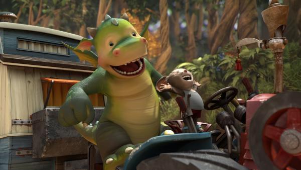 Arni, der kleinen Maus, und Digby ist es in letzter Minute gelungen die Lok Stampfi zu bremsen.   Rechte: ZDF/Fizzy Productions ltd.