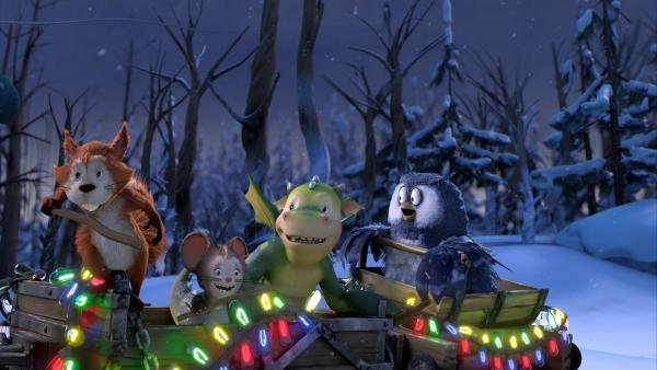 Die Freunde in Apfelstern bereiten sich auf das Weihnachtsfest vor. Sogar Mungo und Grizel sind eingeladen. | Rechte: ZDF/Fizzy Productions ltd.