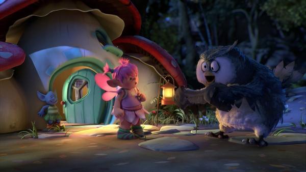 Grizel und Mungo suchen ein neues Zuhause. Ihr Plan ist, sich in Fizzys Häuschen einzuquartieren. Aber vorher wollen sie die Fee noch vertreiben. | Rechte: ZDF/Fizzy Productions ltd.