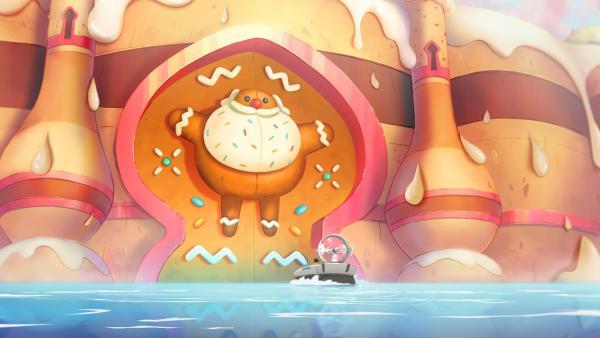 Die Tikis vor dem Tor zur Candyland-Insel, auf der alles aus Süßigkeiten besteht. | Rechte: WDR/2021 Cyber Group Studios
