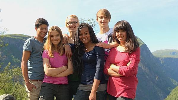 V.l.: Freddy, Antonia, Caspar, Kimberly, Philip und Leonie | Rechte: hr/E+U TV Film- und Fernsehprod.