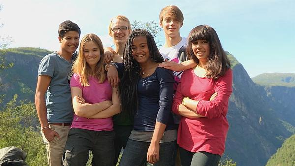 v. l. n. r.: Freddie, Antonia, Caspar, Kimberly, Philip und Leonie | Rechte: hr/E+U TV Film- und Fernsehproduktion