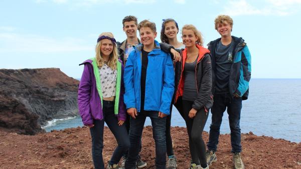 Die sechs Abenteurer (v.l.n.r.): Lucy, Orlando, Moritz, Natalie, Hannah und Lukas | Rechte: hr/Rieke Henkel/Marius Riedel