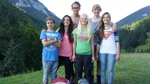 v.l.: Julien, Mathab, Niklas, Vivi, David und Henriette | Rechte: hr/E+U TV Film- und Fernsehproduktion