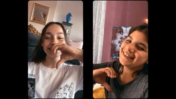 Leyla (l. Aleyna Kus) und Zerda (r. Laila Mascher) verbringen viel Zeit miteinander und können über alles reden. | Rechte: ZDF/Studio Zentral